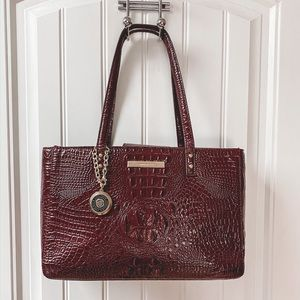 Burgundy Structured Ann Klein Tote✨